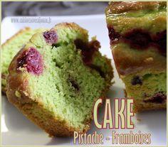 Cake pistache framboises