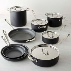 All-Clad NS1 Nonstick Induction 13-Piece Cookware Set #williamssonoma