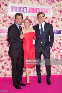 Actors Patrick Dempsey, Renee Zellweger and Colin Firth attend the 'Bridget Jones Baby' Paris Premiere, at the Grand Rex on September 6, 2016 in Paris, France.