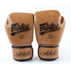 10 oz Classic Brown Muay Thai Boxing K one Martial Arts MMA K1 Fairtex Gloves #Fairtex
