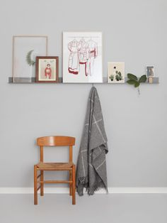 Betonggruvans wall ledge - Fine Little Day Scandinavian Home Interiors, Scandinavian Design, Metal Shelves, Wall Shelves, Shelf, Vase, Wall Ledge, Steel Wall, Bedding Collections