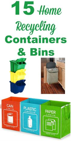 ingenious home recycling bin ideas. 15 home recycling containers and bins you can use to make more  convenient attractive Also includes ideas for compost Recycle in Style Organized Kitchen Stylish Organizing