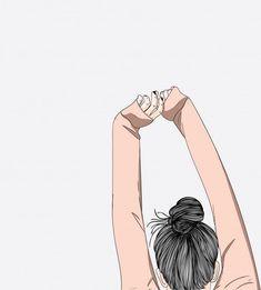Cute Girl Wallpaper, Kawaii Wallpaper, Cute Wallpaper Backgrounds, Wallpaper Fofos, Girly Drawings, Cartoon Art Styles, Digital Art Girl, Cute Cartoon Wallpapers, Anime Art Girl