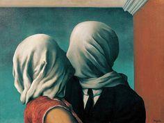 Рене Магритт - Влюбленные (1928)