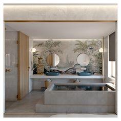 A luxury suite project _____________________ Open Bathroom, Bathrooms, Jacuzzi Outdoor, Hotel Room Design, Hotel Architecture, Water Element, Indoor, Interior Design, Luxury