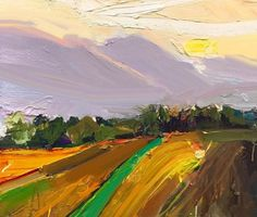 """""""Yarra Valley Twilight"""", 35X45cm, oil on board. The last #light of day drains away and shadows begin to creep over the #Victorian countryside. . #twilight #yarra #valley #australian #creative #inspiration"""