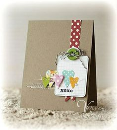 Polka dots with kraft paper - love this! by lorie