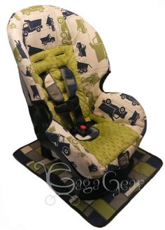 MACK Collection From Gagababygear TRUCKS Shown On A Cosco Scenera Toddler Seat