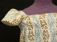Detail of cotton roller print child's dress, c.1815, from the Vintage Textile archives.