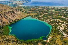 Kournas lake, east of Chania town, Crete island, Greece Crete Island, Rivers, Lakes, Greece, Outdoor, Greece Country, Outdoors, Outdoor Games, River