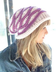 Cabled Wrap Slouchy Hat Crochet Pattern