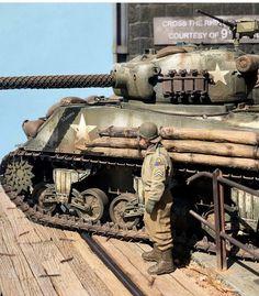Plastic Model Kits, Plastic Models, Sherman Tank, Model Tanks, Military Modelling, Military Diorama, Model Building, World War Two, Scale Models