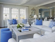 oomph Coffee Table and side tables. Room by Lynn Morgan, Rowayton, CT