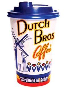 Dutch Bros Coffee on rural right across the street from Barrett, The Honors College at ASU on Tempe's campus