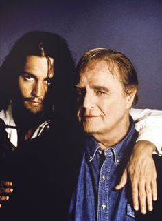 Johnny Depp and Marlon Brando (Don Juan de Marco)