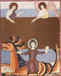 Il Drago dell'Apocalisse con in groppa Babilonia la Grande