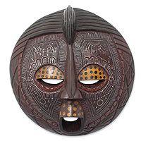 Ghanaian wood mask, 'Ewe Linguist'