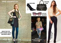 Trend: Sequinned Top.   Like a little bling! Label women show you how to wear it just right.