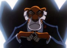 Shere Khan, TaleSpin, CEO of Khan Enterprises, currently running candidate for District Attorney in Cape Suzette and Gotham City Walt Disney Cartoons, Disney Cats, 90s Cartoons, Disney Pixar, Cartoon Art, Cartoon Characters, Old Disney Tv Shows, Original Power Rangers, Tiger Art