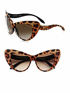 Roberto Cavalli - Retro Print Cat's-Eye Sunglasses