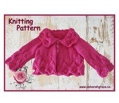Baby Matinee Jacket Cardigan Knitting by DeborahGraceDesigns