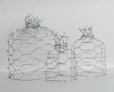 chicken wire cloches- lovely