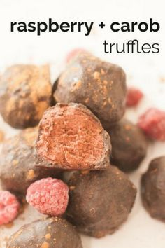 Need a simple paleo dessert recipe? These Raspberry Carob Truffles are a healthy way to satisfy your chocolate craving. Creamy raspberry filling is enrobed with a carob shell. This recipe is suitable for paleo and autoimmune paleo diets. The Autoimmune Paleo Protocol is gluten-free, dairy-free, egg-free, nut-free, seed-free, and nightshade-free to promote recovery from autoimmune diseases. #paleodessert  #aip #autoimmunepaleo #eggfree #healthy #paleodiet #paleorecipe #dairyfree Paleo Sweets, Paleo Dessert, Gluten Free Desserts, Vegetarian Desserts, Healthy Desserts, Cobbler, Paleo Recipes, Whole Food Recipes, Carob Recipes