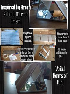 """How to make a Mirror Prism-kids connect (KinderFynes) on Twitter-""""Voila hours of fun!"""""""