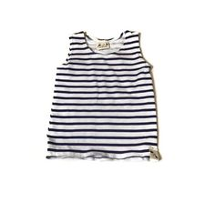 Basic Navy Stripe - Everyday Tee Short Sleeves, Long Sleeve, Striped Tank, Navy Stripes, French Terry, Bear, Cotton, Tops, Women