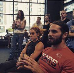 Wwe Seth Rollins, Seth Freakin Rollins, Becky Wwe, Wwe Couples, Warrior Queen, Irish Warrior, Rebecca Quin, Adam Cole, Wwe Girls