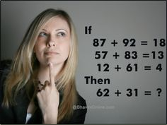 number riddle find missing value Brain Teasers Riddles, Brain Teasers With Answers, Number Riddles, Math Questions, Improve Yourself, Fun, Puzzles, Missing Number, Maths