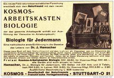 Original-Werbung/ Anzeige 1939 - KOSMOS ARBEITSKASTEN BIOLOGIE - ca. 140 x 100 mm