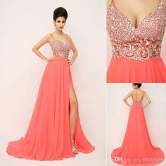 Cheap Prom Dresses - Discount Sexy Spaghetti Straps Long Backless Evening Dress in Online with $116.03/Piece | DHgate