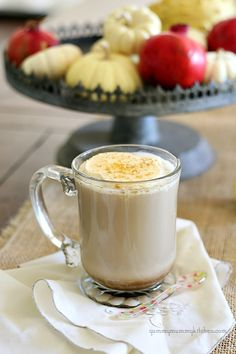 Skinny Pumpkin Spice Lattes! You keep the mixture in the freezer until ready to add to your coffee.     55 calories instead of 390 from the coffee shop! And this one has 4 grams of sugar instead of 49!     #Delicious #fall #recipe from YummyMummyKItchen