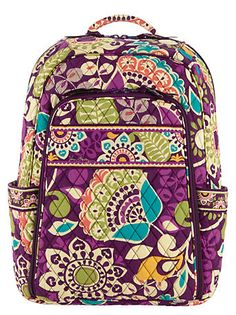 9f604b0df08 Laptop Backpack in Plum Crazy,  109   Vera Bradley Vera Bradley Backpack, Vera  Bradley