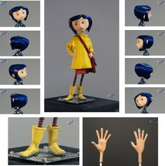 """For all drawers of Coraline, you& agree with me that it& incredible hard to draw a character. This is sort of a Coraline """"spin around"""". All her angles are repr. Character Outline, Character Concept, Character Art, Concept Art, Coraline Doll, Coraline Jones, Coraline Costume, Estilo Tim Burton, Tim Burton Art"""