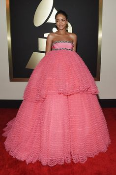 Rihanna at the Grammys 2015: The Best Dressed Celebrities on the Red Carpet