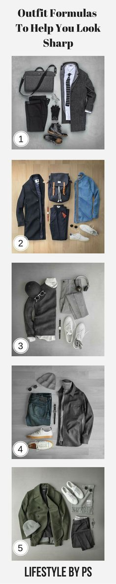 OUTFIT GRIDS FOR #mens #fashion #style - https://www.luxury.guugles.com/outfit-grids-for-mens-fashion-style/