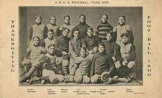 Turn of the century uniform for football - Grand Rapids High School Football Team