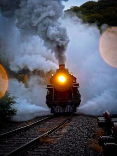 .A circus train on it's way to the next small town it will be playing in......awesome!