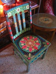 Painted Chairs~~an amazing artist! If only I were even half as good!