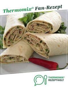 - Tuna wraps from A Thermomix ® recipe from the starters / salads category zeptwelt. -Tuna Wraps - Tuna wraps from A Thermomix ® recipe from the starters / salads category zeptwelt. -Wraps - Tuna wraps from A Thermomix ® recipe from the . Appetizer Salads, Appetizers, Sandwich Recipes, Salad Recipes, Clean Eating Snacks, Healthy Snacks, Tuna Wrap, Snacks Sains, Healthy Snack Recipes