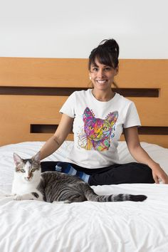 9e8e5e01bf41 Abyssinian Cat T-Shirt - Men or Women's Semi-Fitted