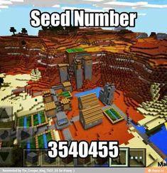 Minecraft powerfull seed number - Minecraft World Minecraft World, Minecraft Pe Seeds, Minecraft Funny, Minecraft Plans, Amazing Minecraft, Minecraft Tutorial, Minecraft Blueprints, Minecraft Stuff, Minecraft Secrets