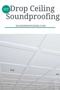 DIY Drop Ceiling Soundproofing DIY Drop Ceiling Soundproofing Julie Stewart Basement looks ideas Soundproofing your Basement Drop Ceiling can be easier than you think nbsp hellip Ceiling makeover