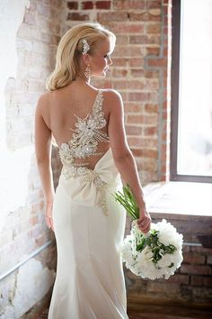 Making a Statement with the Back of your Wedding Dress - KnotsVilla