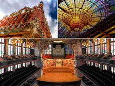 The magnificent Palau de la Música   http://www.oh-barcelona.com/en/blog/2010/tourist-guide/sightseeing/palau-de-musica-10300