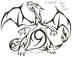 Charizard Tribal Style Tattoo by Darkhellia666.deviantart.com on @DeviantArt