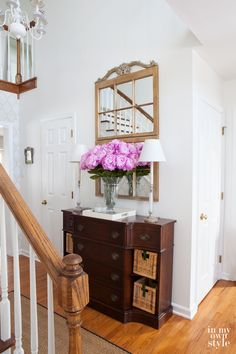 Make the most of your non-existent entryway with these clever design tricks.