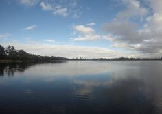 Lake Monger looking south towards Perth CBD.